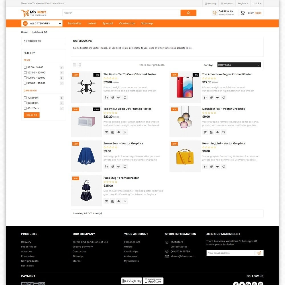 theme - Electronics & Computers - Mixmart - The MultiStore Theme - 4