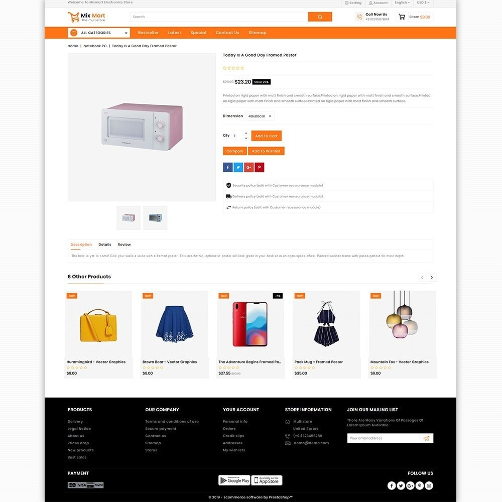 theme - Electronics & Computers - Mixmart - The MultiStore Theme - 6