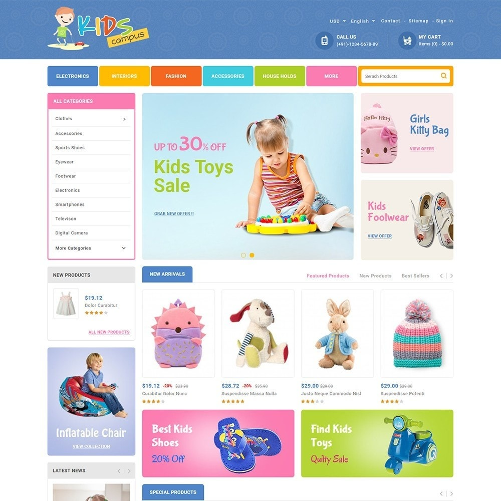 theme - Kids & Toys - Kids Campus - Toys & Baby Shop - 2
