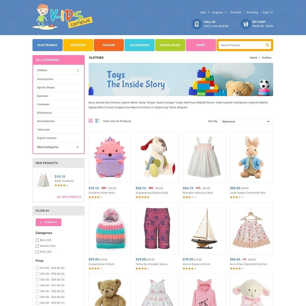 theme - Kids & Toys - Kids Campus - Toys & Baby Shop - 3