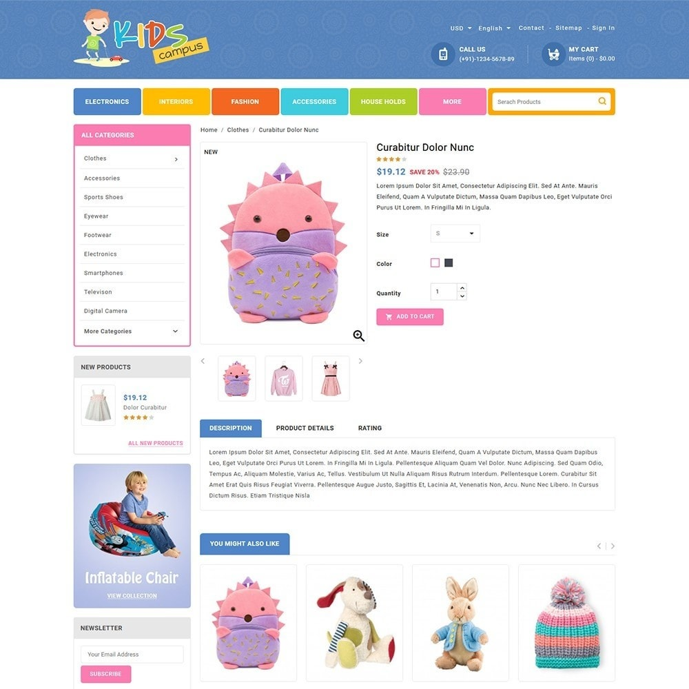 theme - Kids & Toys - Kids Campus - Toys & Baby Shop - 4