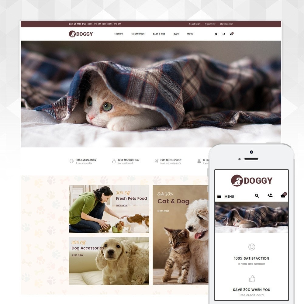 theme - Animals & Pets - Doggy - Pets Store - 1