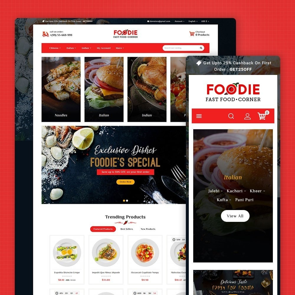 theme - Food & Restaurant - Foodie - Fast Food Corner - 1