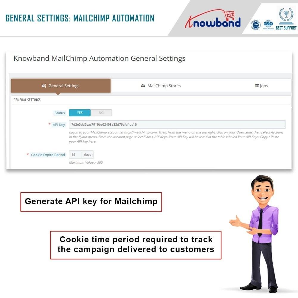 module - Newsletter y SMS - Knowband - Automatización Mailchimp - 2