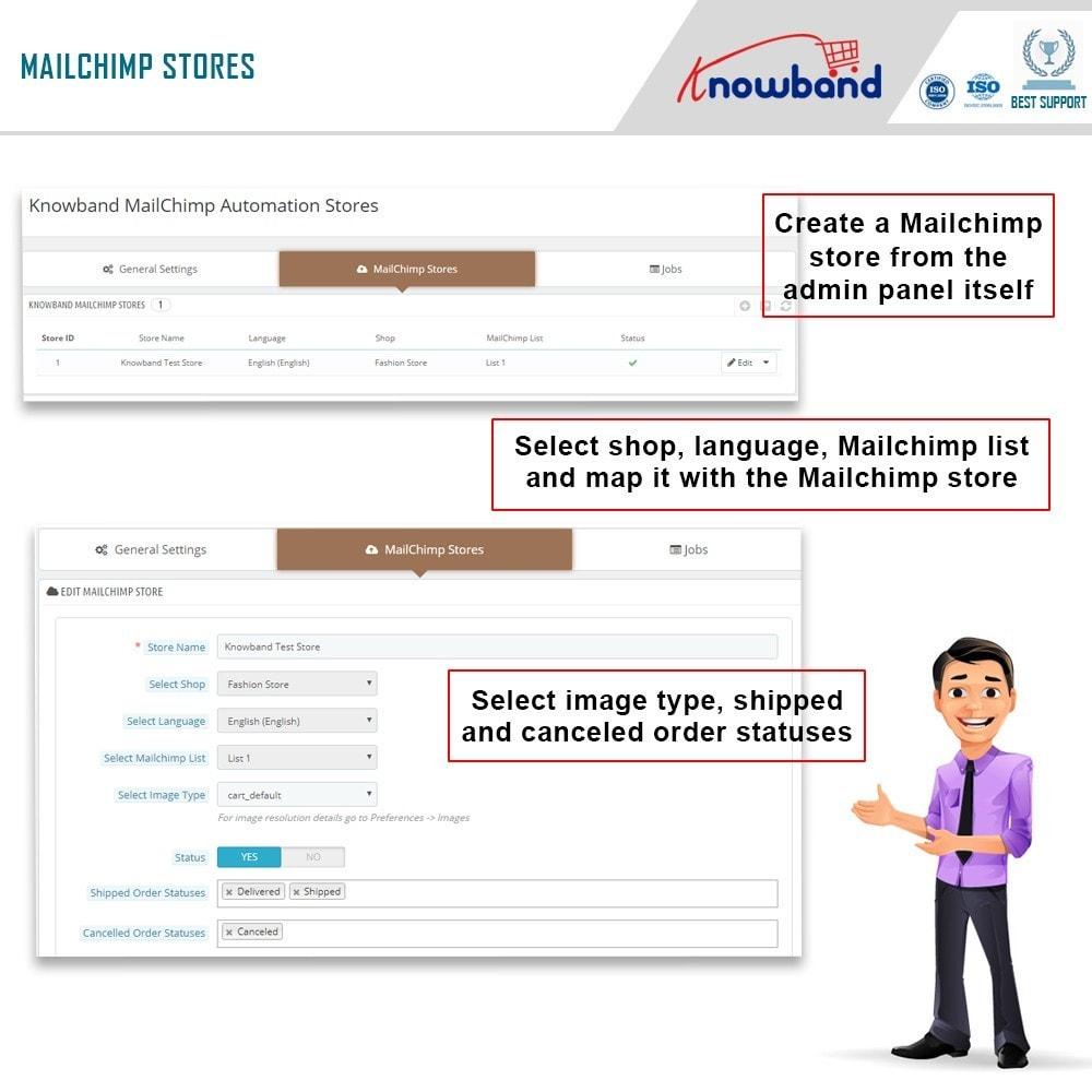 module - Newsletter y SMS - Knowband - Automatización Mailchimp - 3