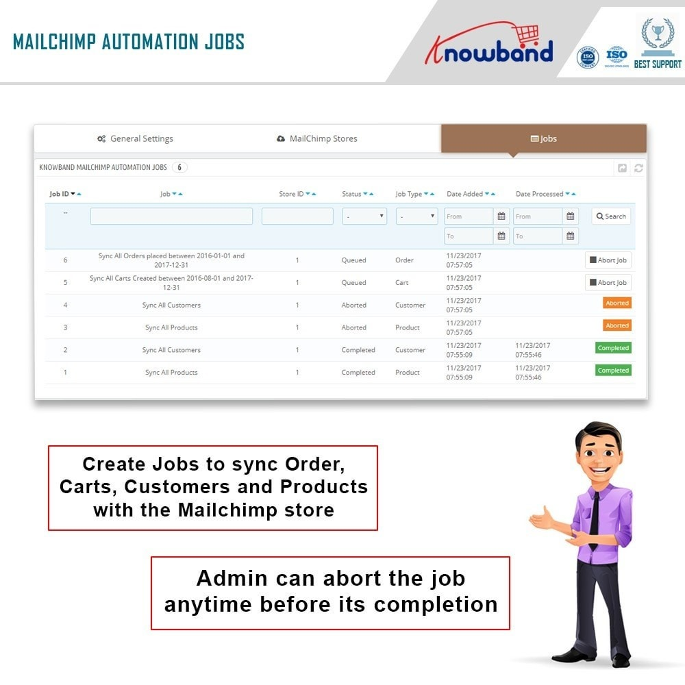 module - Newsletter & SMS - Knowband - Mailchimp Automation - 4