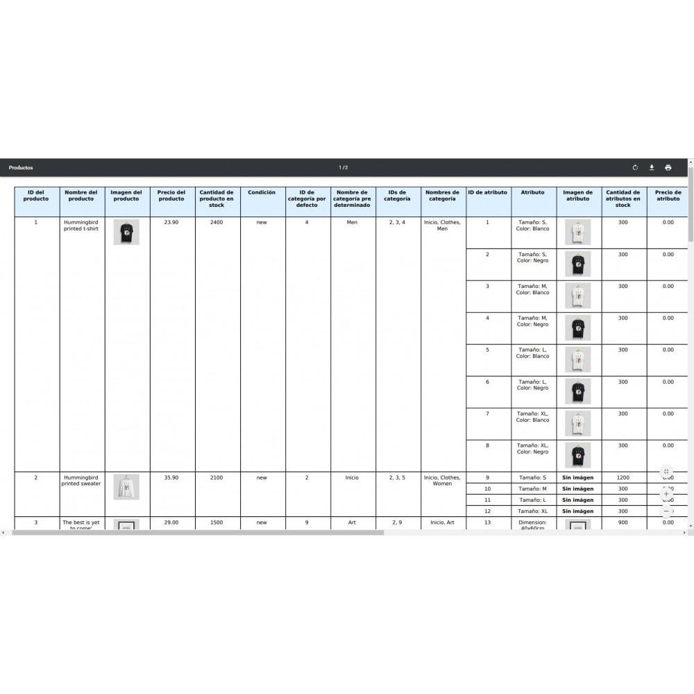 module - Importación y Exportación de datos - Exportación Productos (Excel, CSV, XML, Email, FTP) - 10