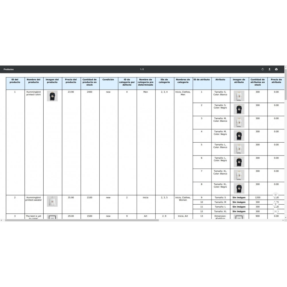 module - Importación y Exportación de datos - Exportación de Productos Pro (Excel, CSV, PDF) - 9