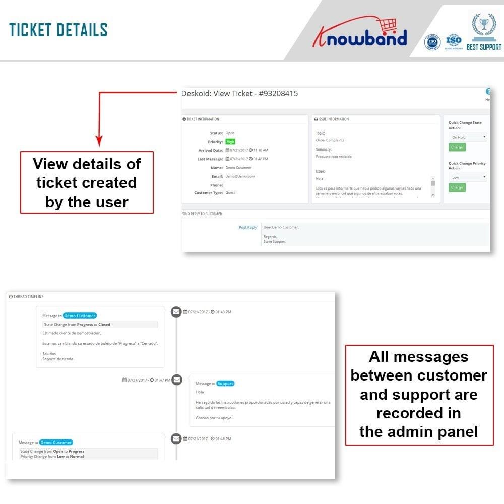 module - Kundenservice - Deskoid Helpdesk - 3