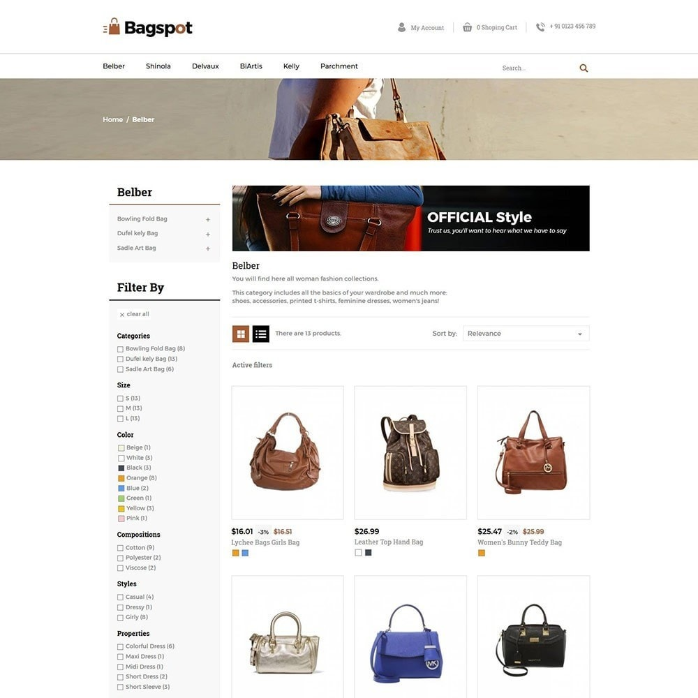 theme - Moda & Calçados - Bagspot - Bolsa de Moda - 5