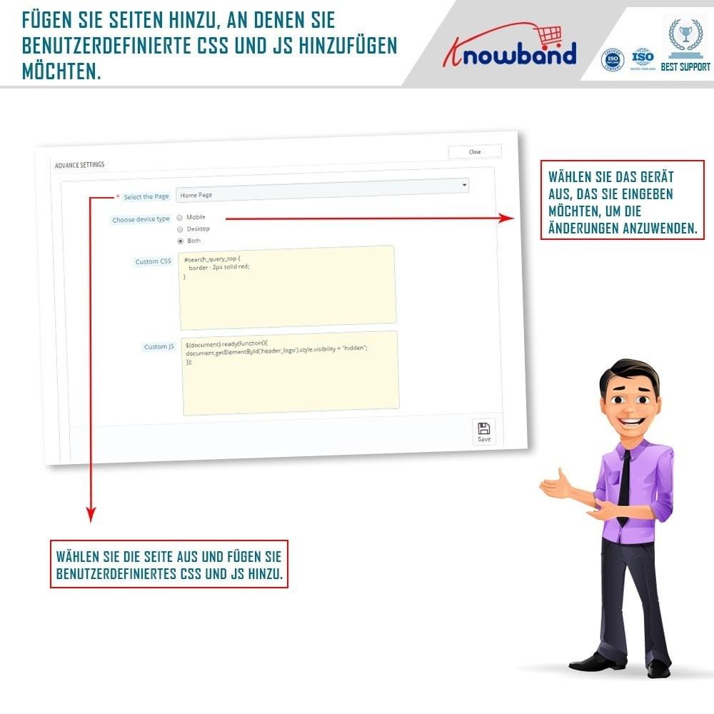 module - Individuelle Seitengestaltung - Knowband- Anpassbare CSS und JS Codes - 4