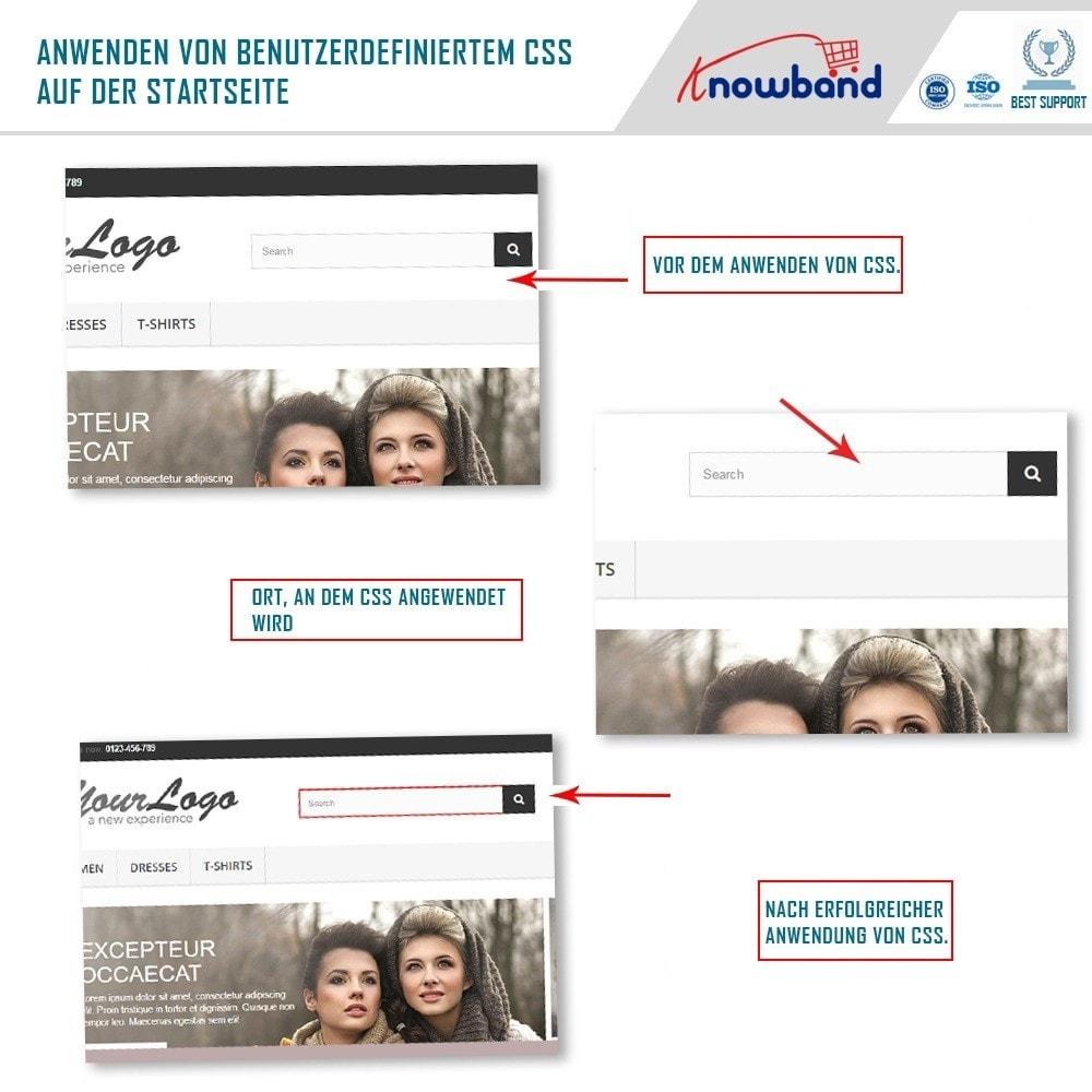 module - Individuelle Seitengestaltung - Knowband- Anpassbare CSS und JS Codes - 5