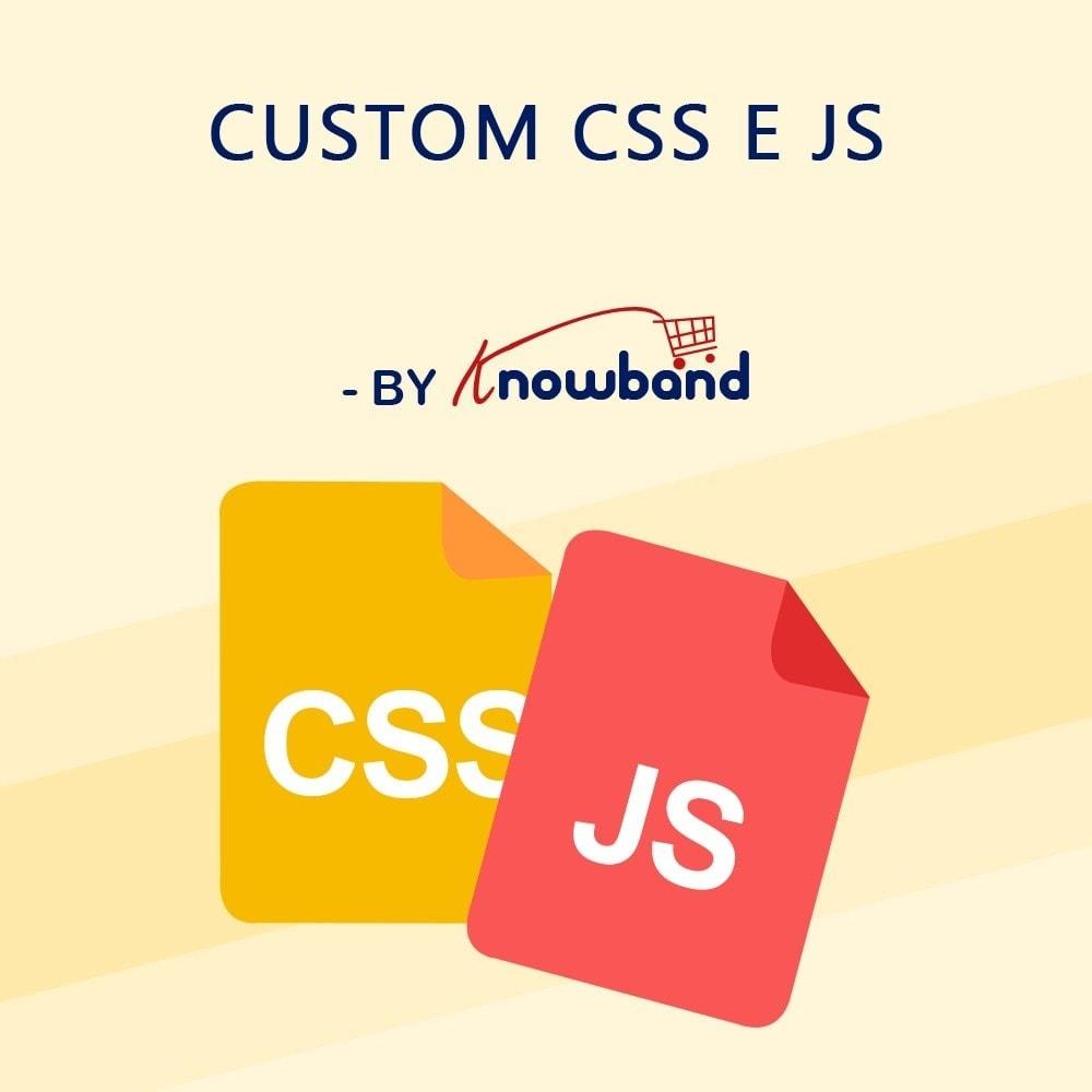 module - Personalização de página - Knowband – CSS e JS Personalizado - 1
