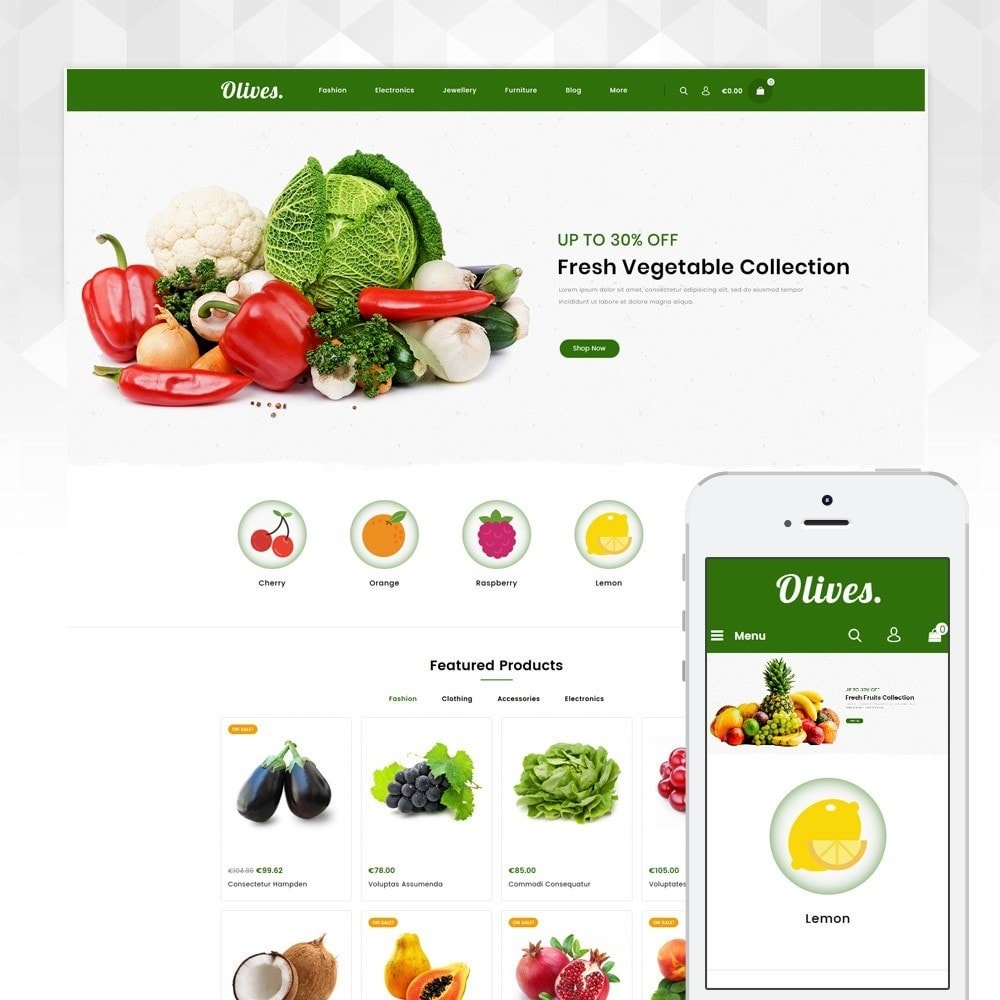 theme - Lebensmittel & Restaurants - Olives - Organic Store - 1