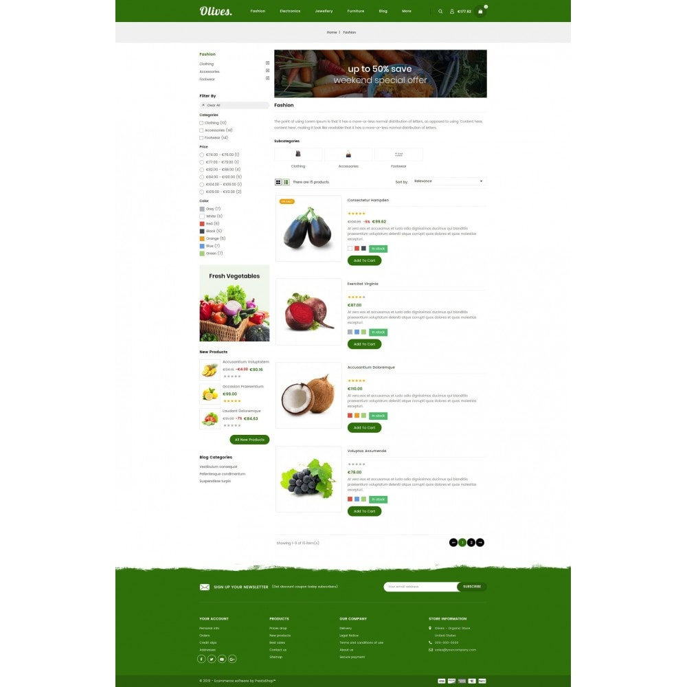 theme - Lebensmittel & Restaurants - Olives - Organic Store - 4