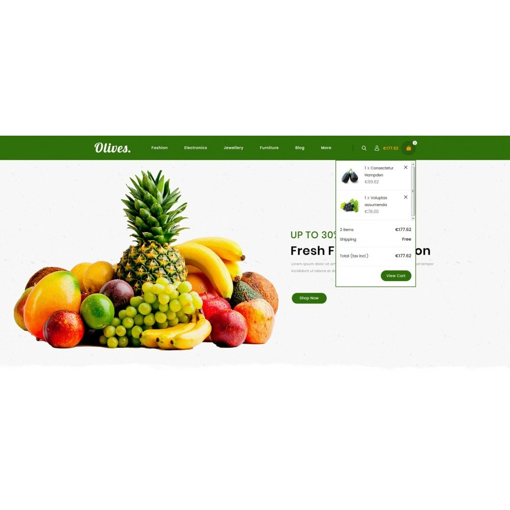 theme - Lebensmittel & Restaurants - Olives - Organic Store - 8