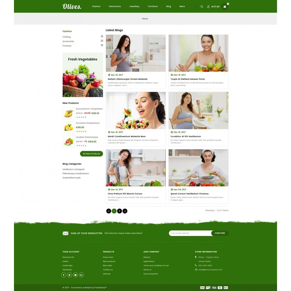 theme - Food & Restaurant - Olives - Organic Store - 9