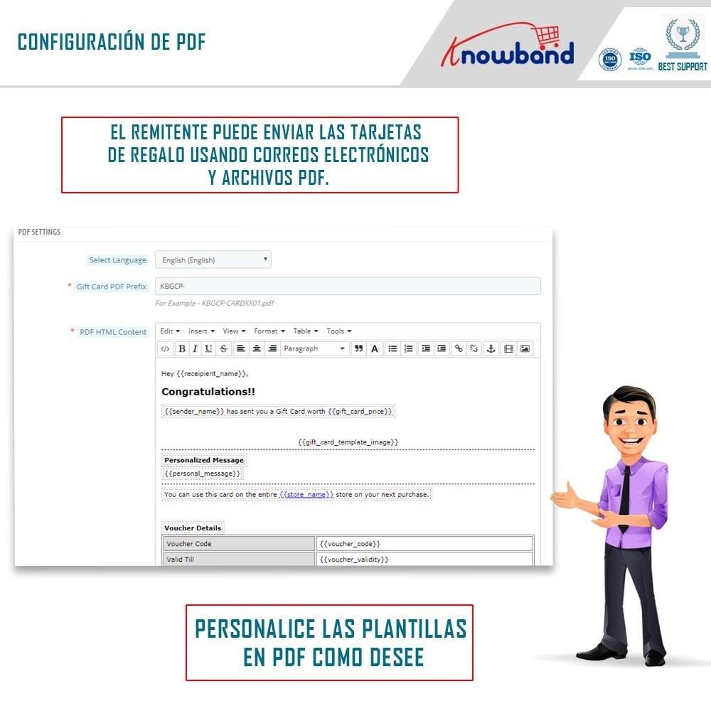 module - Lista de deseos y Tarjeta regalo - Knowband - Gift card manager - 5