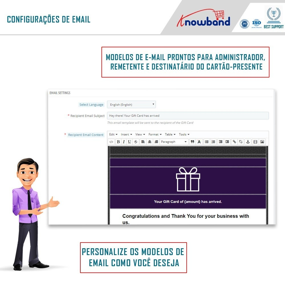 module - Lista de desejos & Vale-presente - Knowband - Gift card manager - 3