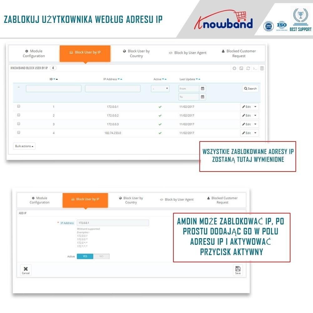 module - Bezpieczeństwa & Dostępu - Block Bot/User by IP, country or User Agent - 2