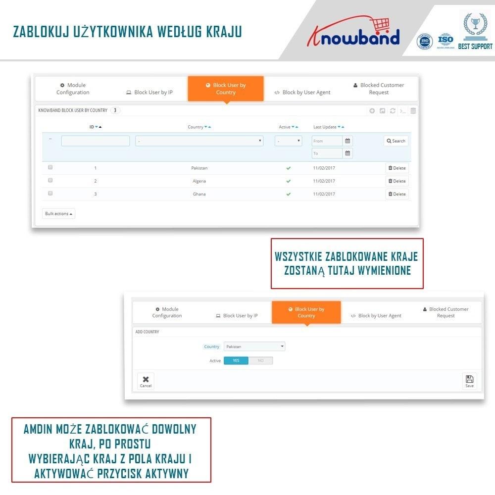 module - Bezpieczeństwa & Dostępu - Block Bot/User by IP, country or User Agent - 3
