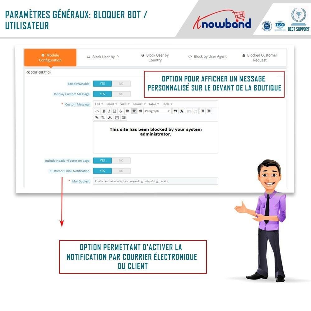 module - Sécurité & Accès - Blocage Bot/Utilisateur par IP, pays ou Agent - 1
