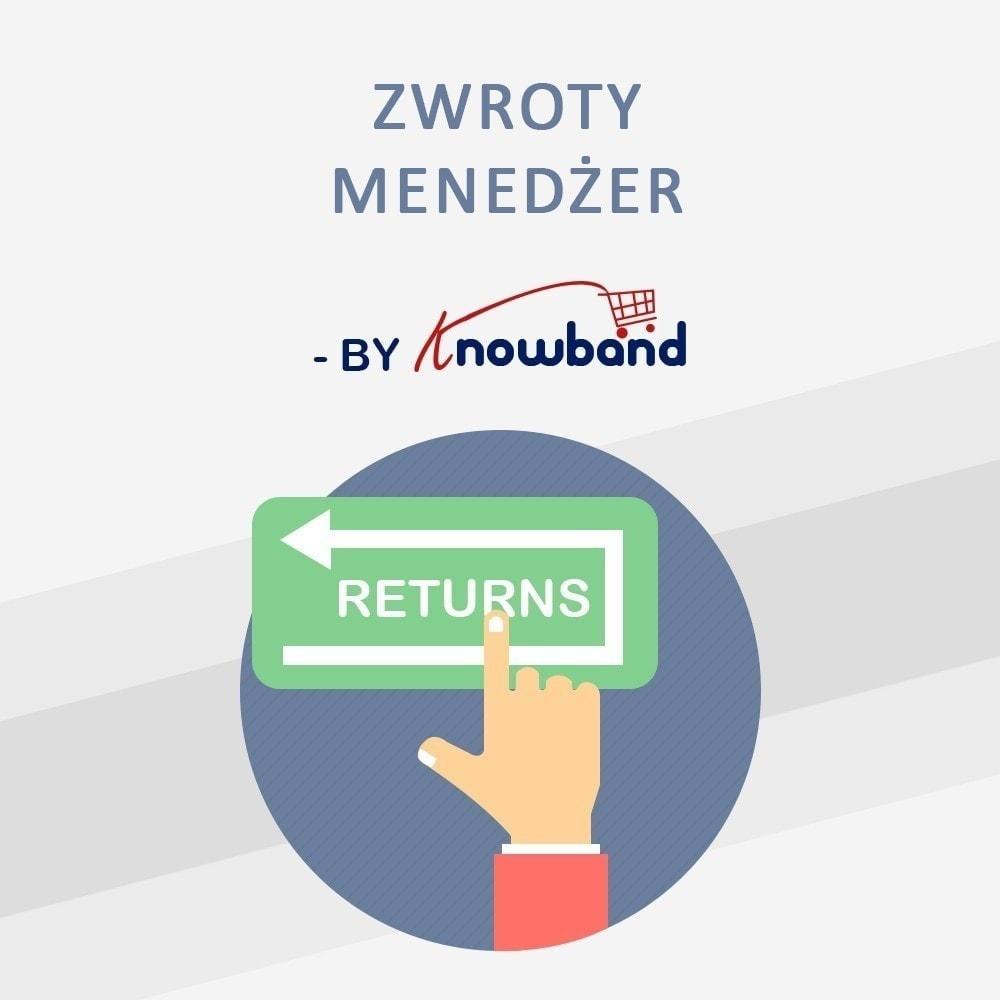 module - Serwis posprzedażowy - Order Return Manager(Return Slip & Barcode) - 1