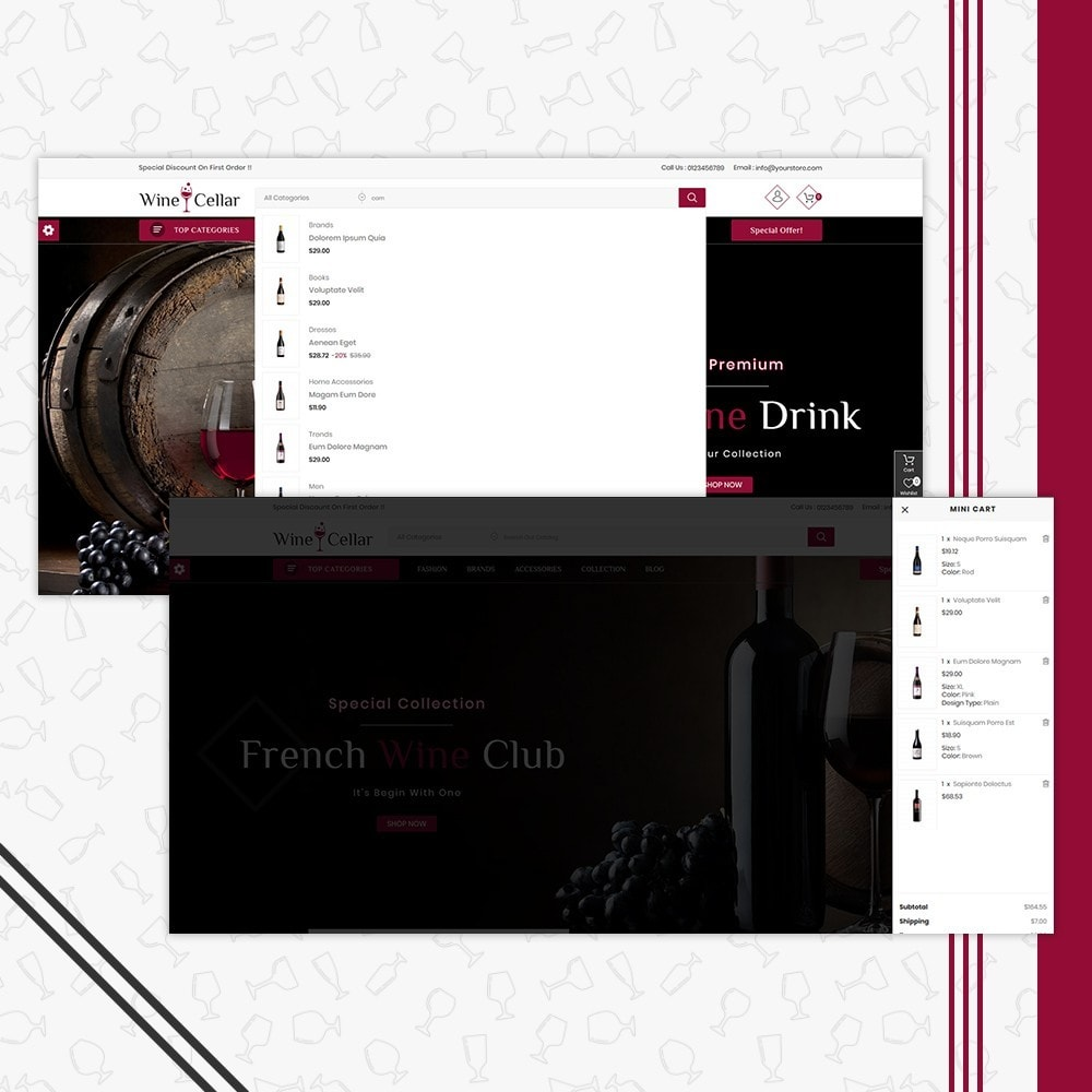 theme - Drink & Tobacco - Wine Cellar Shop - 6