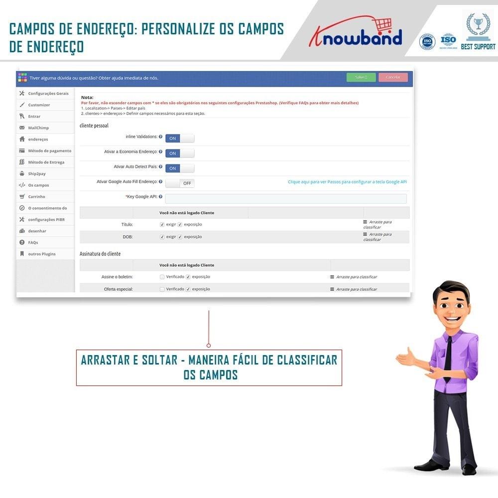 module - Processo de pedido - Checkout de Uma Página,Login Social &Mailchimp - 5
