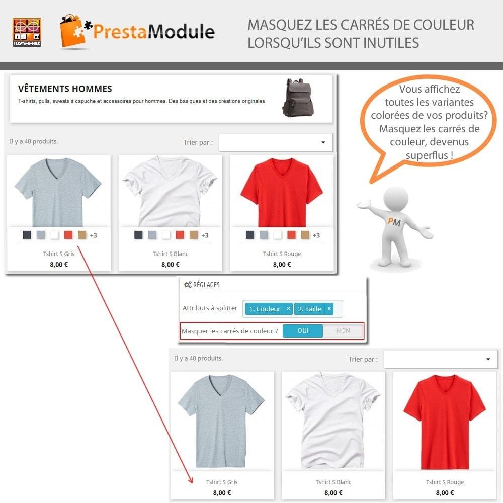 module - Déclinaisons & Personnalisation de produits - Products by Attributes: Afficher déclinaisons-attributs - 5