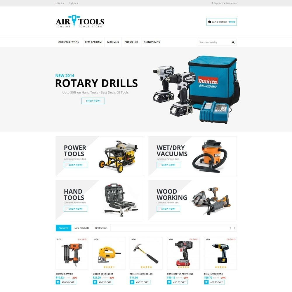 theme - Carros & Motos - AirTools - The Tool Store - 3