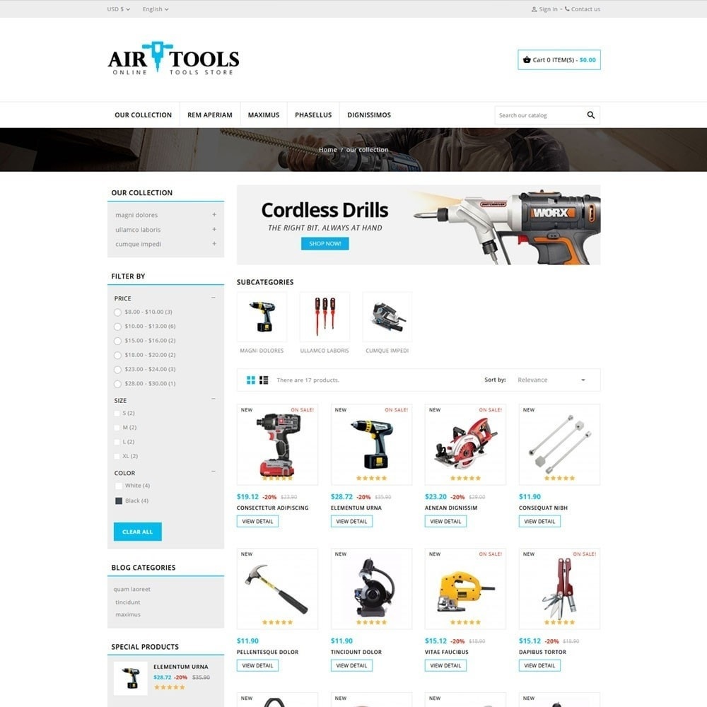 theme - Carros & Motos - AirTools - The Tool Store - 4