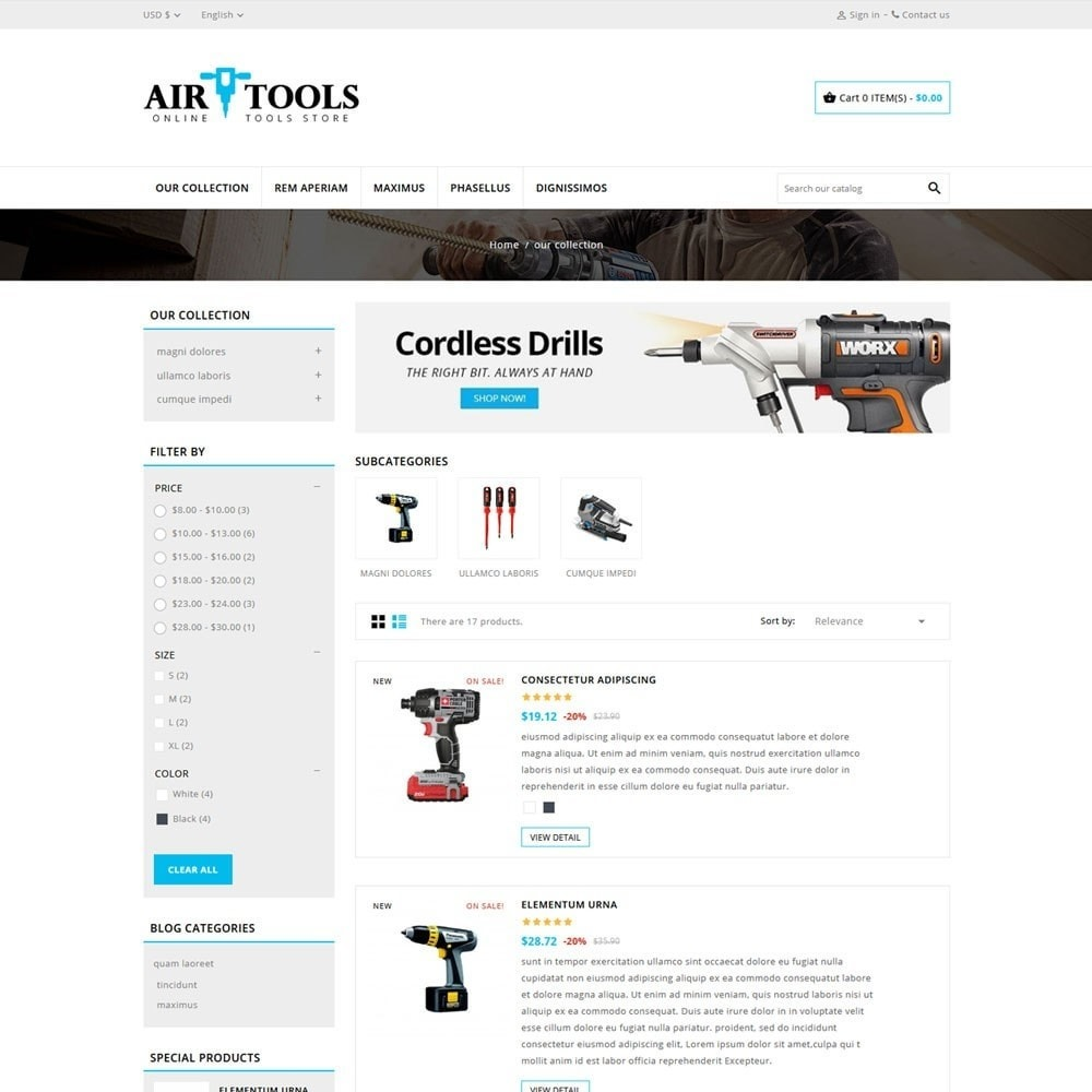 theme - Carros & Motos - AirTools - The Tool Store - 5