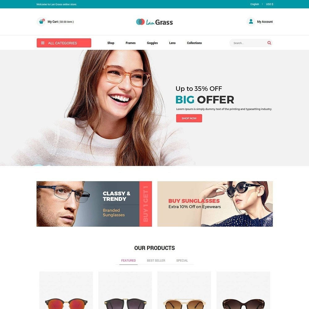 theme - Fashion & Shoes - Eyeware  Sunglass - Lens Store - 2
