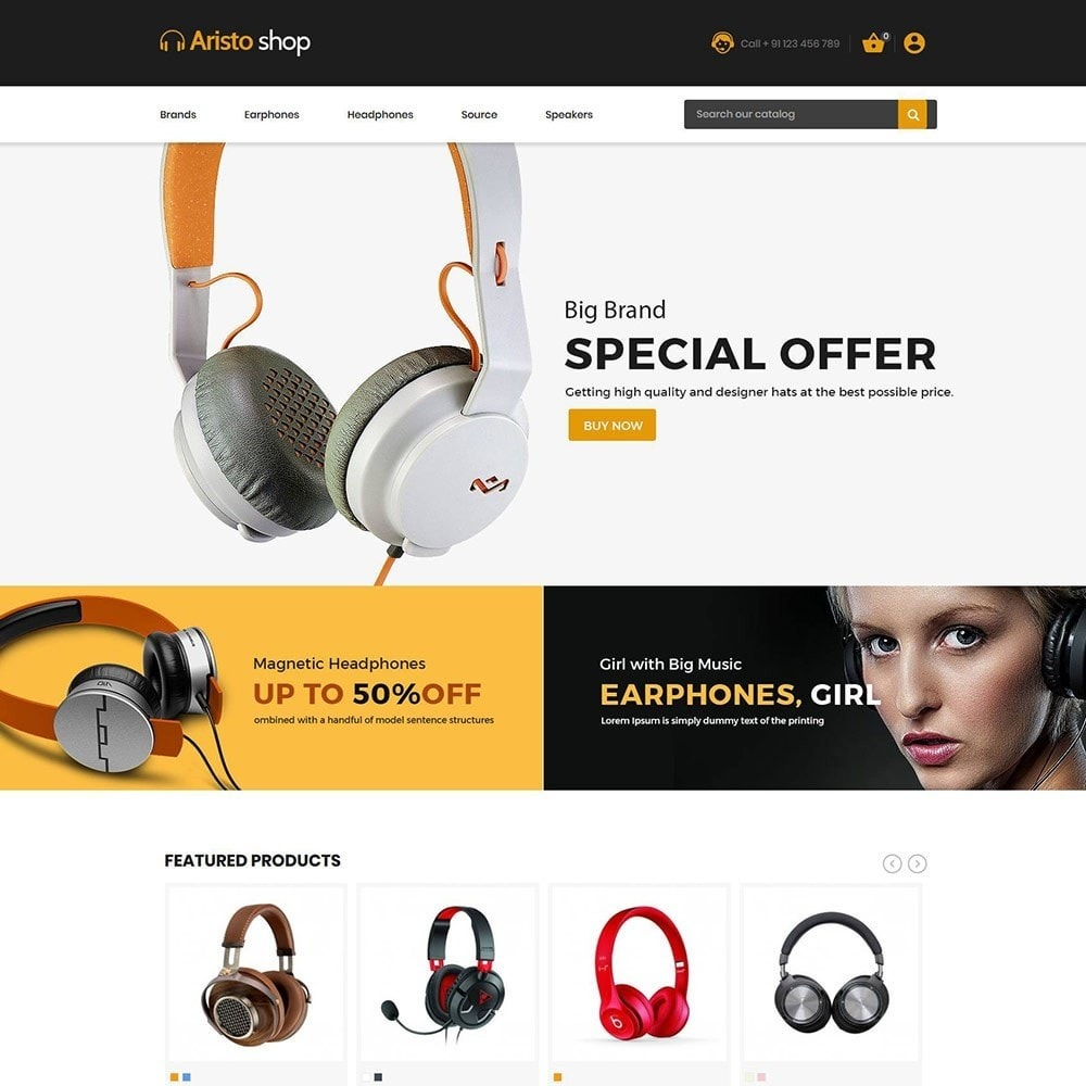 theme - Electronics & Computers - Headphone - Earphone Mobile Electronics Store - 2