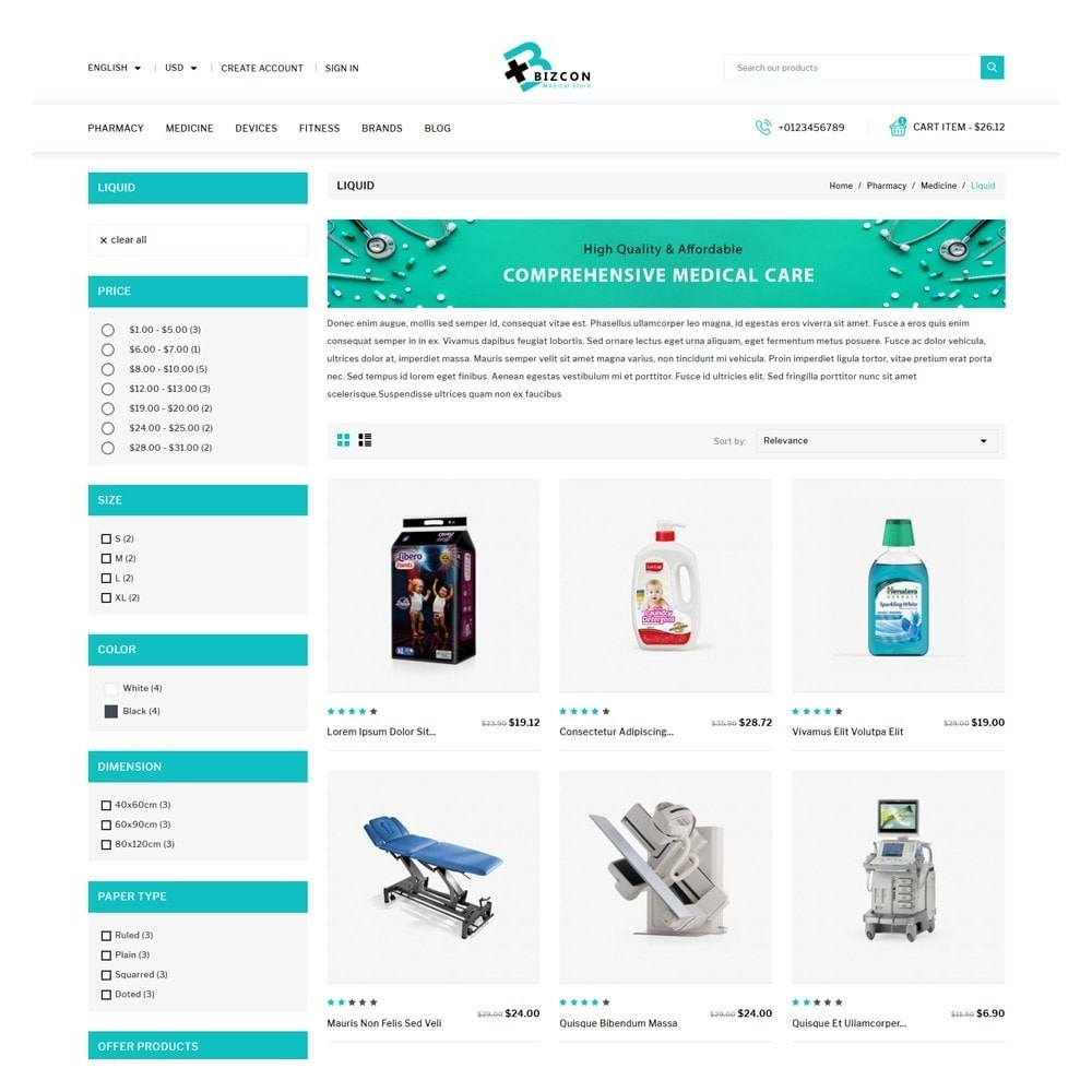 theme - Health & Beauty - Bizcon Medicine Shop - 3