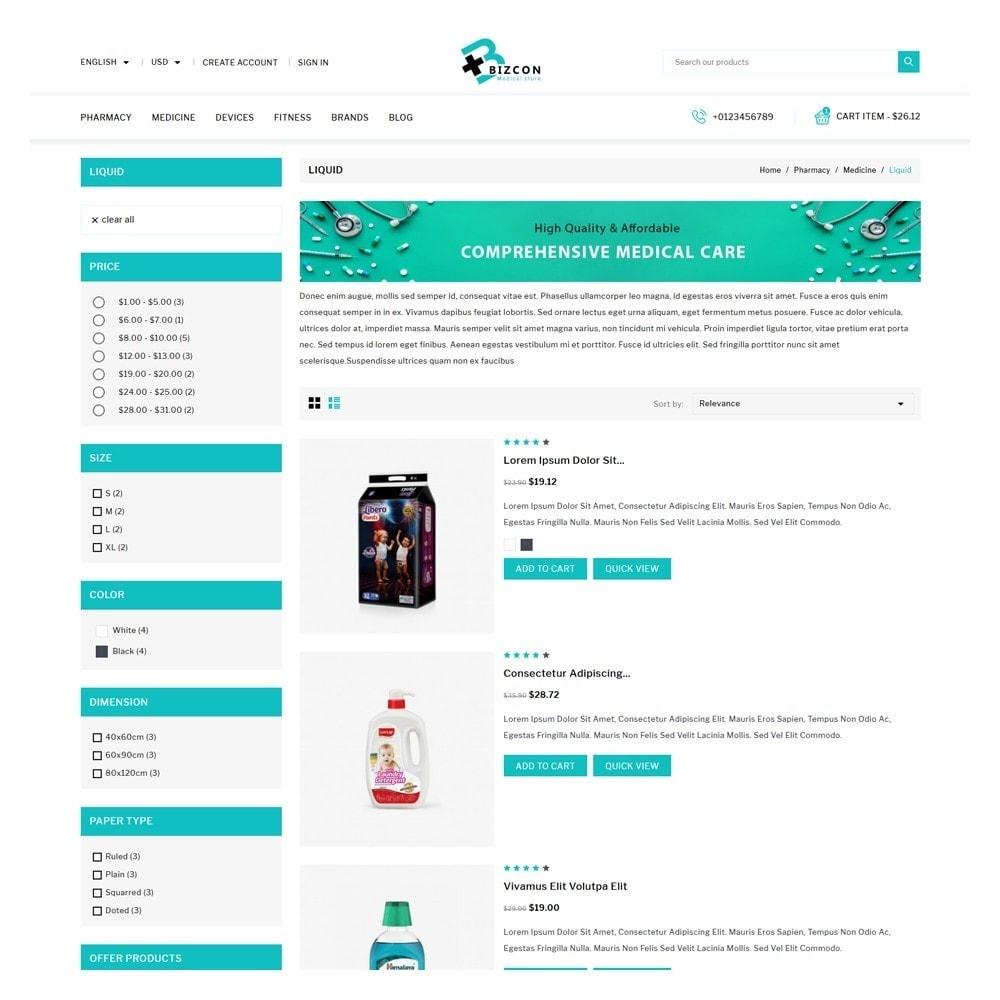 theme - Health & Beauty - Bizcon Medicine Shop - 4