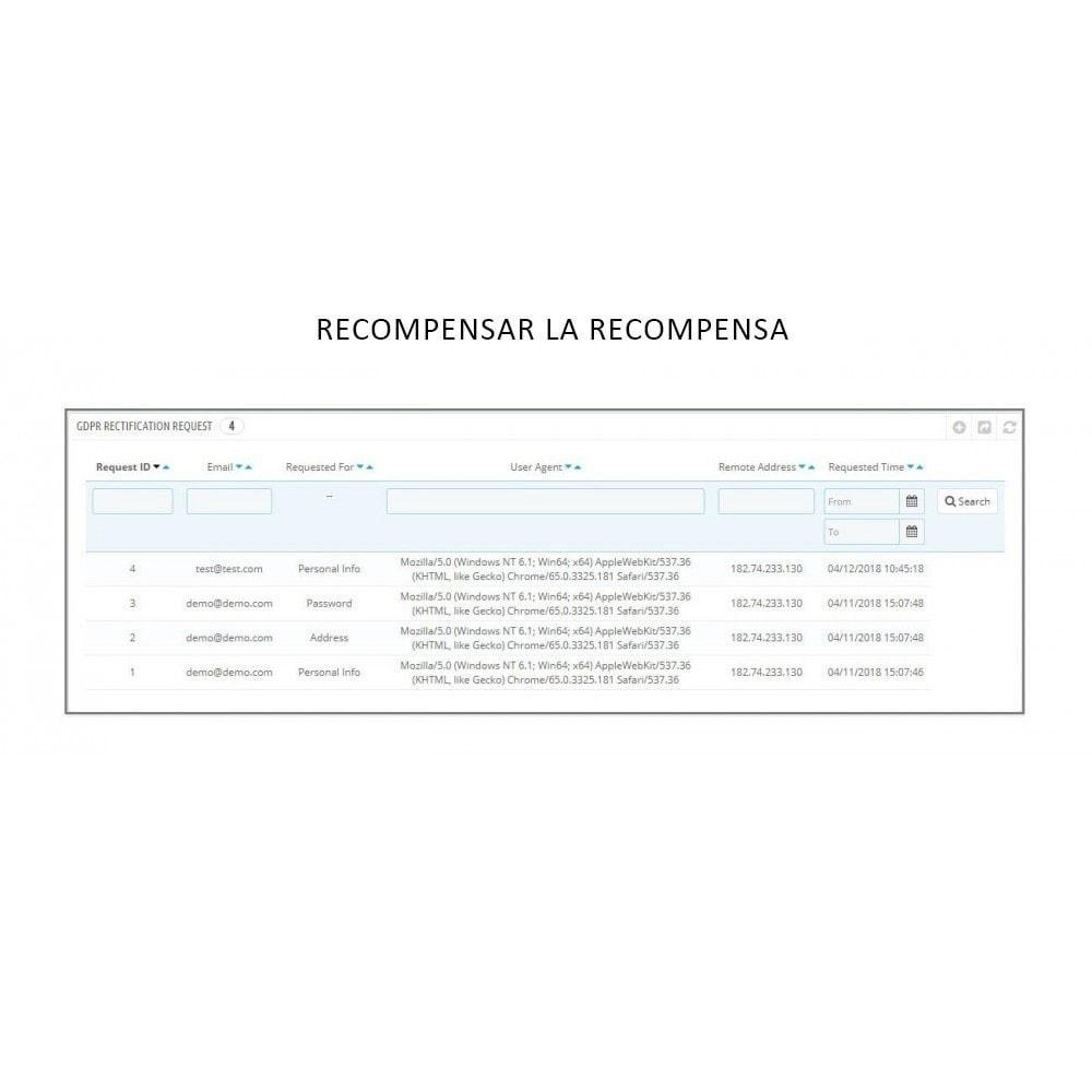 module - Marco Legal (Ley Europea) - Knowband - RGPD - Derechos de los Individuos - 12