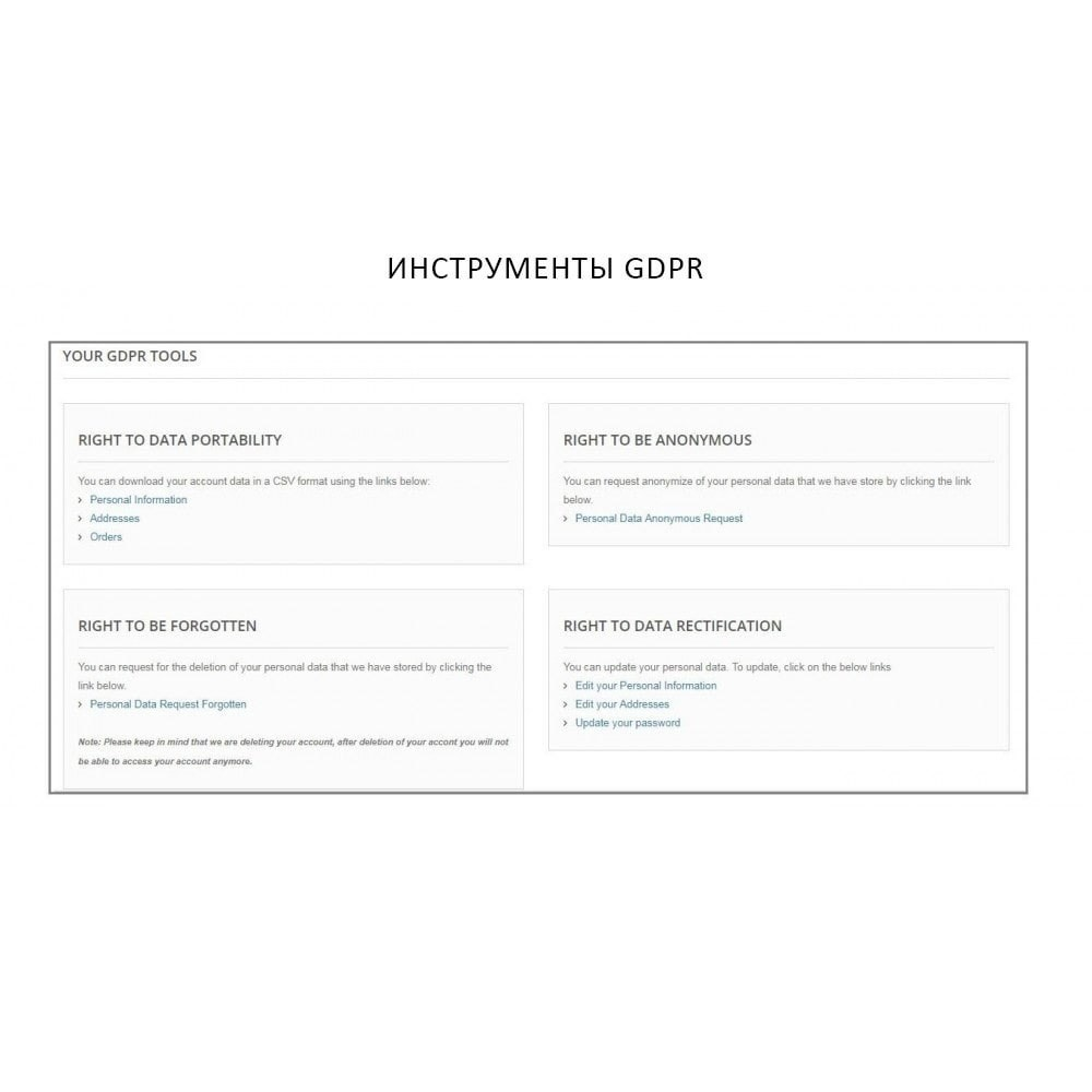module - Администрация - Knowband - GDPR - Rights of Individuals - 3