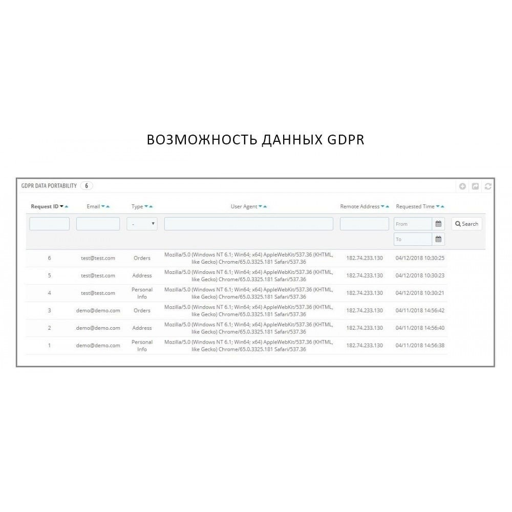 module - Администрация - Knowband - GDPR - Rights of Individuals - 7