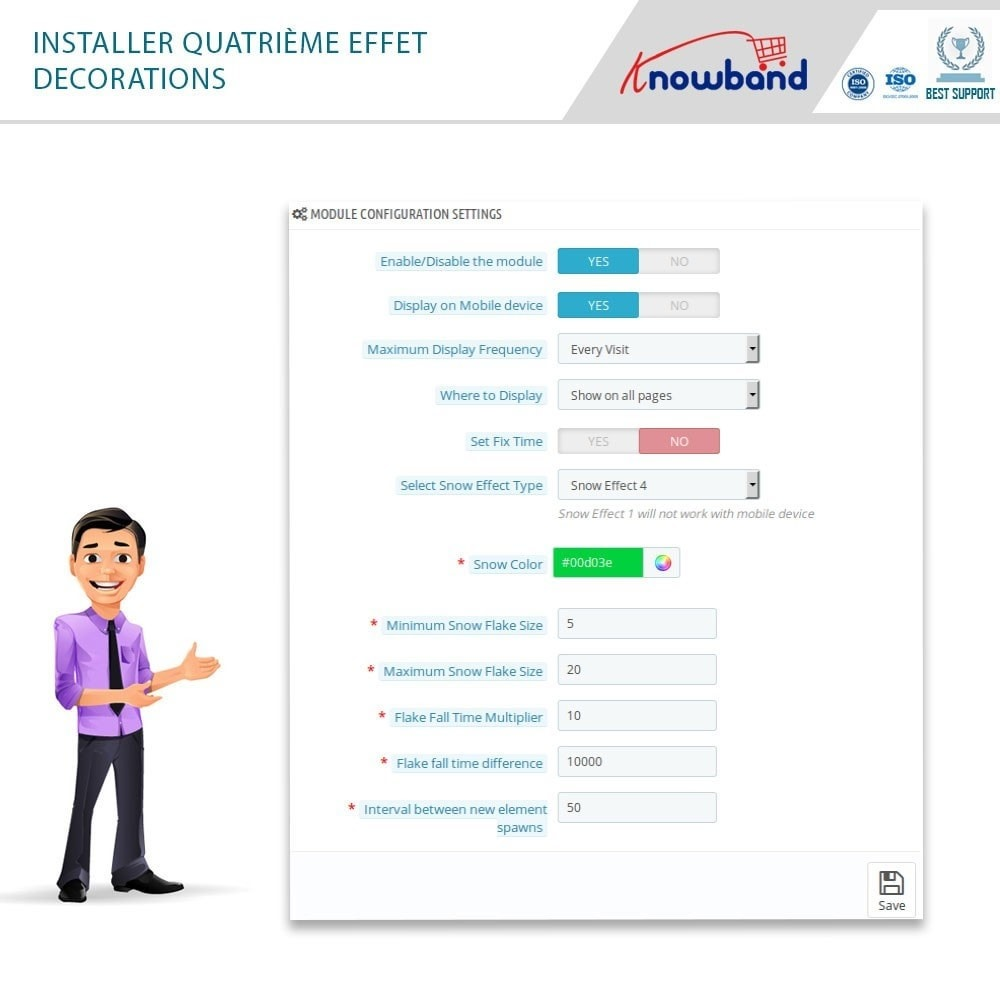 module - Personnalisation de Page - Knowband - Website Decoration Effects - 6
