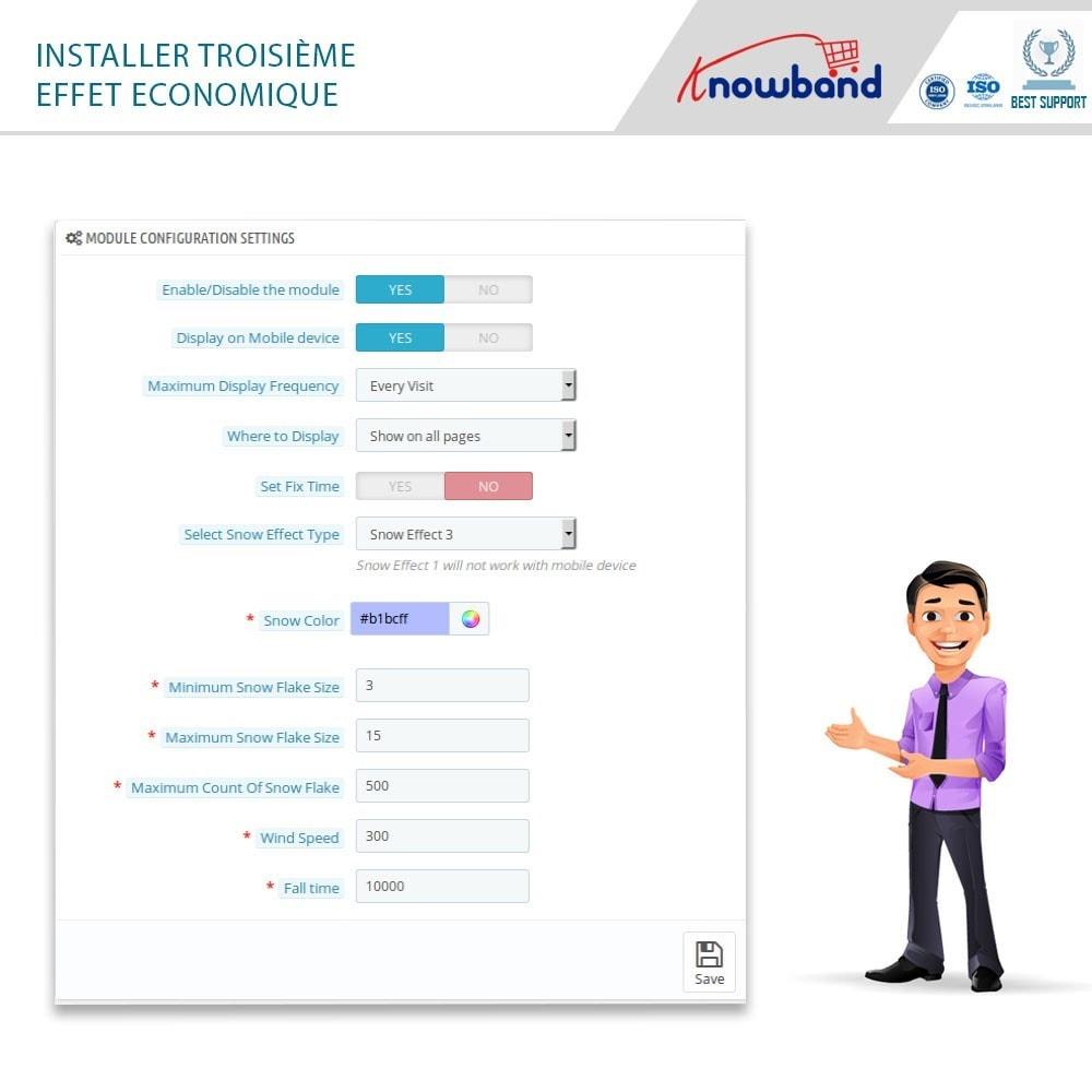 module - Personnalisation de Page - Knowband - Website Decoration Effects - 7