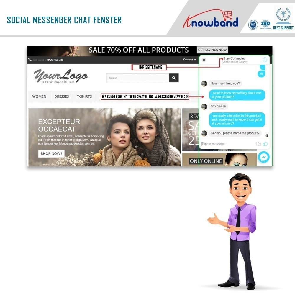 module - Support & Online-Chat - Social Messenger, Live Chat Support - 3