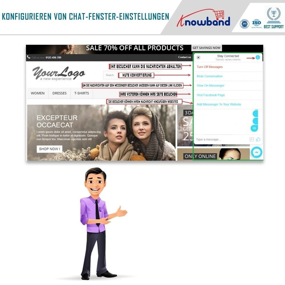 module - Support & Online-Chat - Social Messenger, Live Chat Support - 4