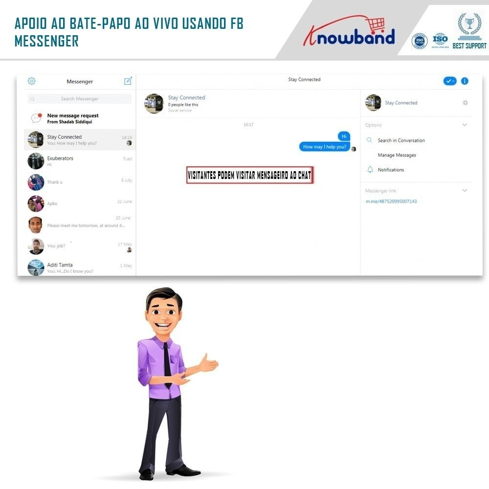 module - Suporte & Chat on-line - Social Messenger, Live Chat Support - 5