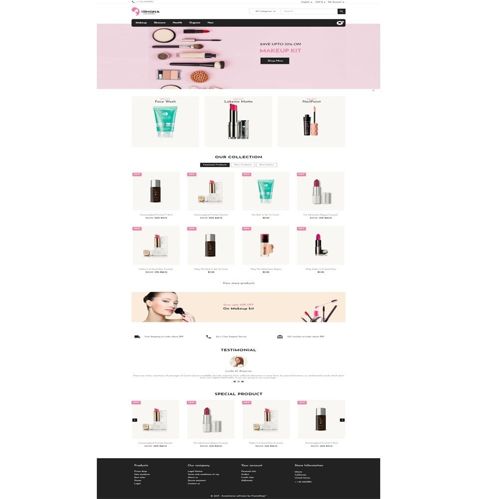 theme - Health & Beauty - Ishona Cosmetic Store - 2