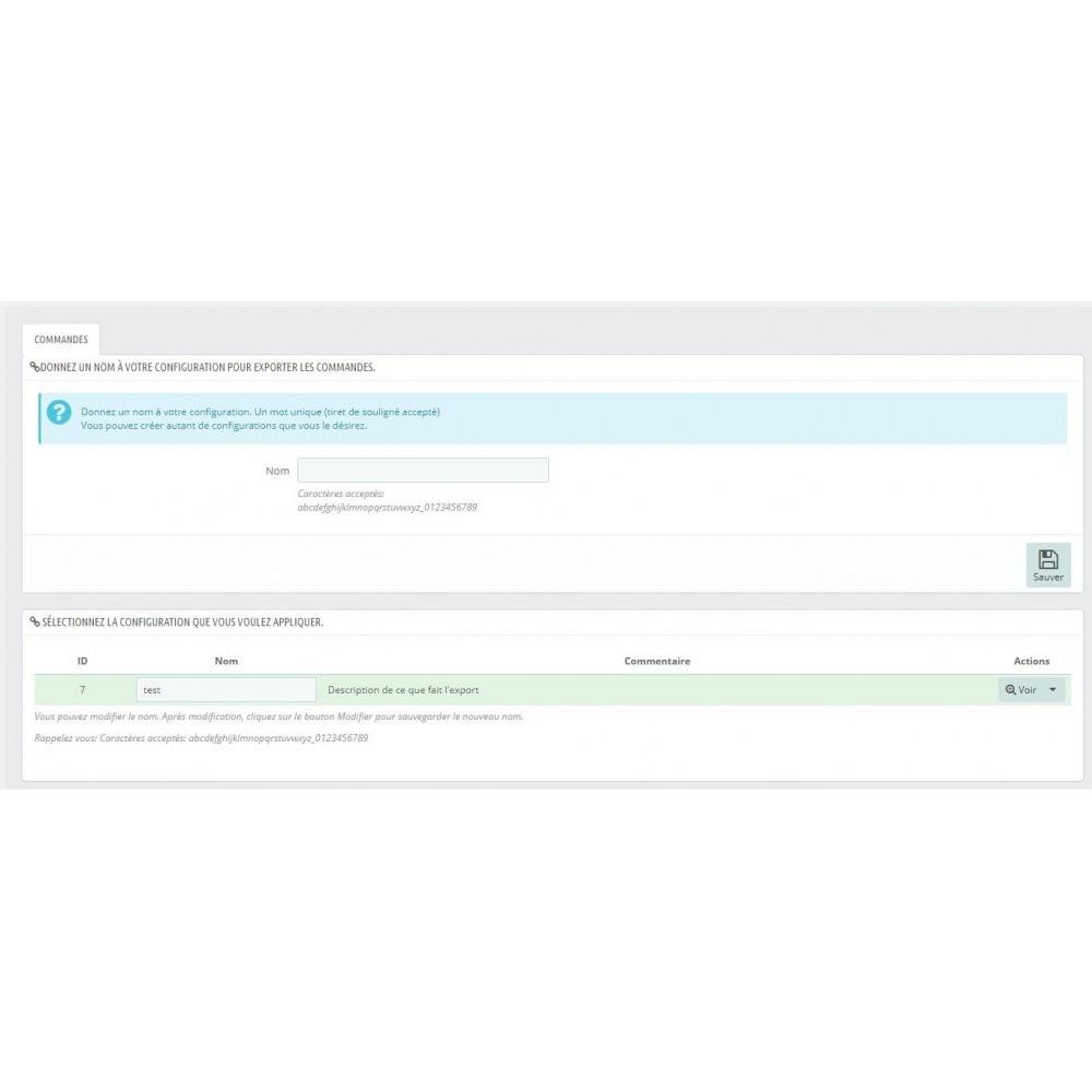 module - Import & Export de données - Export commandes aux formats CSV, XLSX, JSON ou XML - 1
