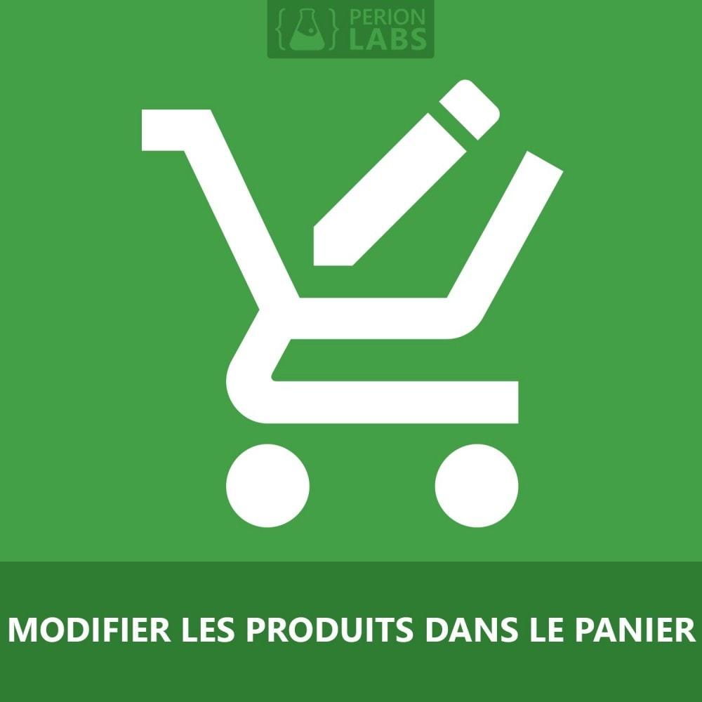 module - Déclinaisons & Personnalisation de produits - Modifer les produits dans le panier - 1