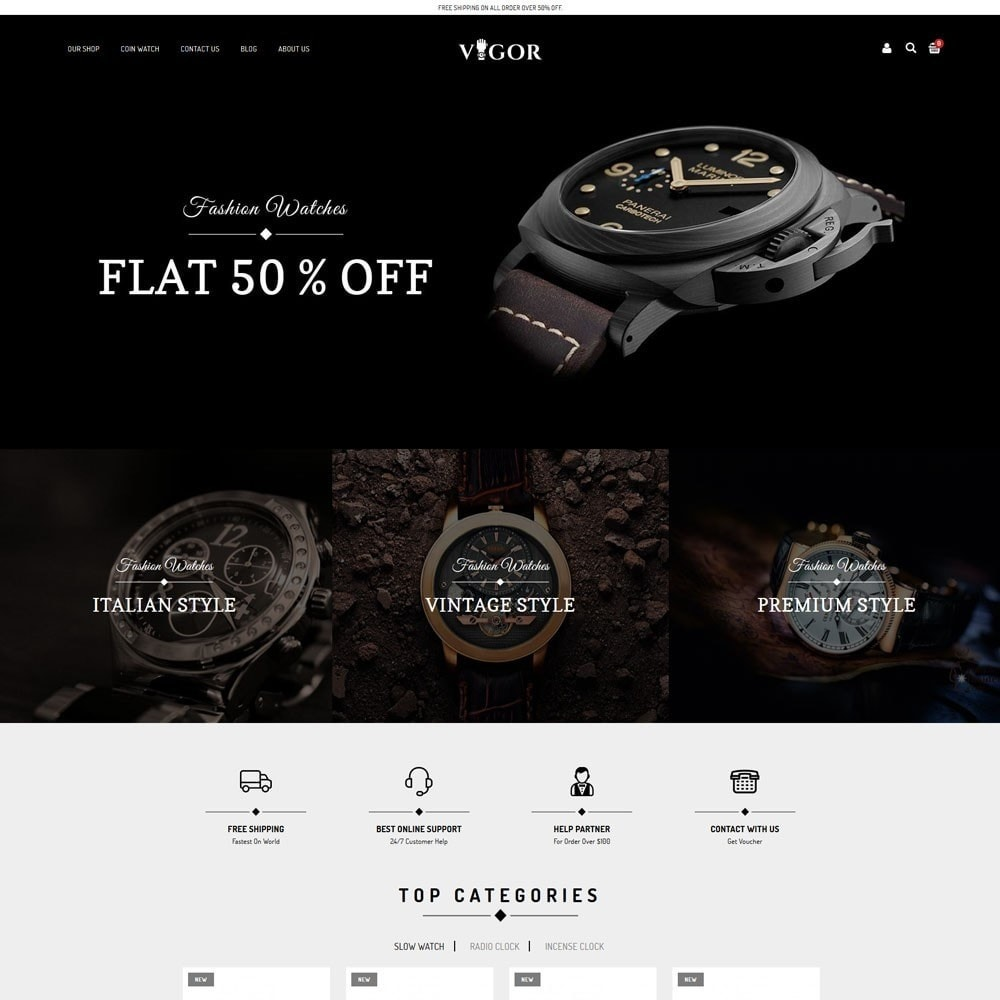 theme - Fashion & Shoes - Vigor - The Watch Store - 3