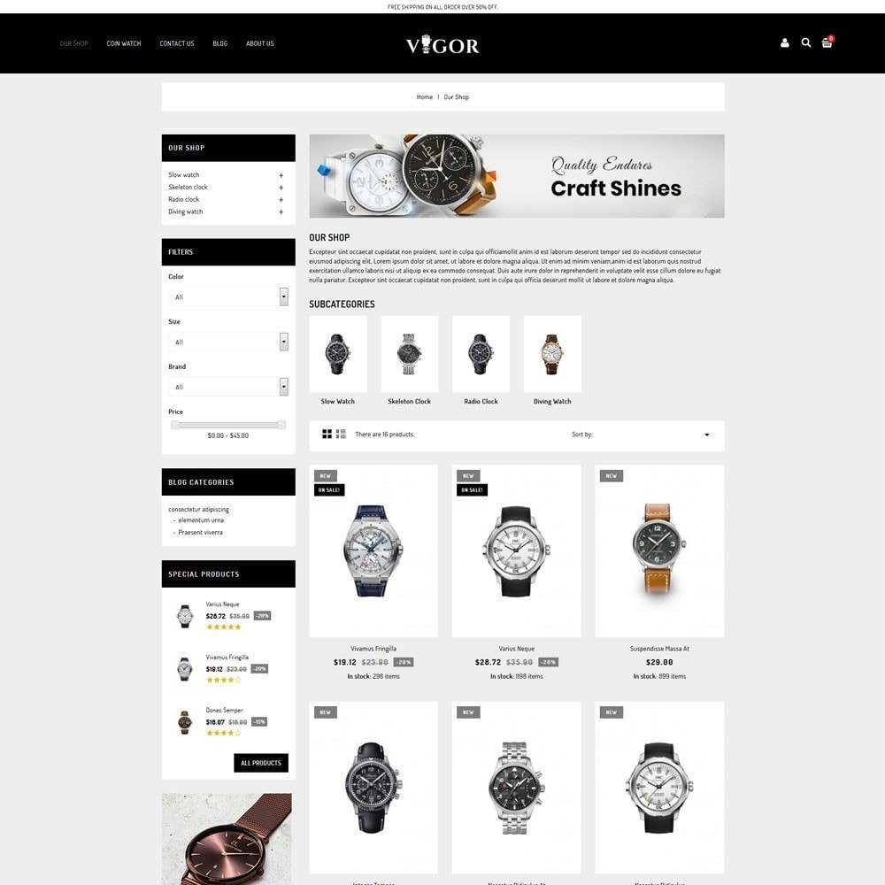 theme - Mode & Schuhe - Vigor - The Watch Store - 4